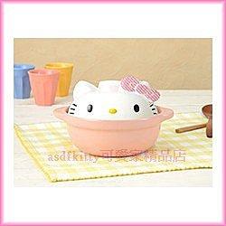 廚房【asdfkitty可愛家】Kitty大臉個人小砂鍋-景品-日本正版商品