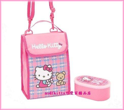 廚房【asdfkitty】kitty便當袋+便當盒-小熊-保鮮盒-保冷保溫手提.斜背.肩背包