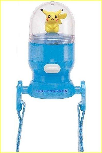 asdfkitty可愛家☆皮卡丘寶特瓶用-直飲式瓶蓋-直接喝~免洗吸管歐~附水壺背帶-日本正版商品
