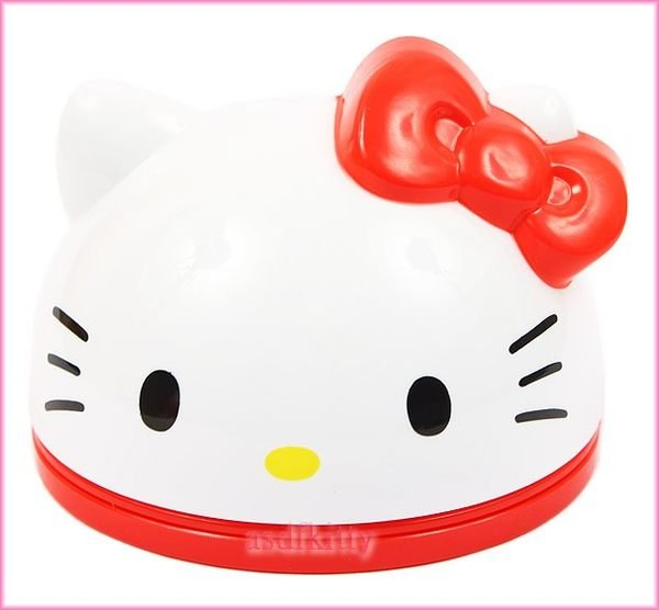 asdfkitty可愛家☆KITTY紅色大臉造型置物盒附便條紙-放戒指.糖果.飾品當禮物盒-歐美版正版