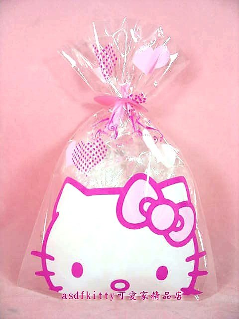 asdfkitty可愛家☆賠錢出清特價 KITTY S號食品用塑膠袋/包裝袋/糖果餅乾收納袋-日本正版