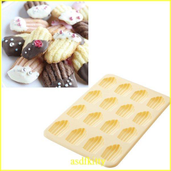 asdfkitty可愛家☆貝印KAI矽膠模型-迷你瑪德蓮12連-做巧克力.蛋糕.冰塊.餅乾.手工皂-日本正版