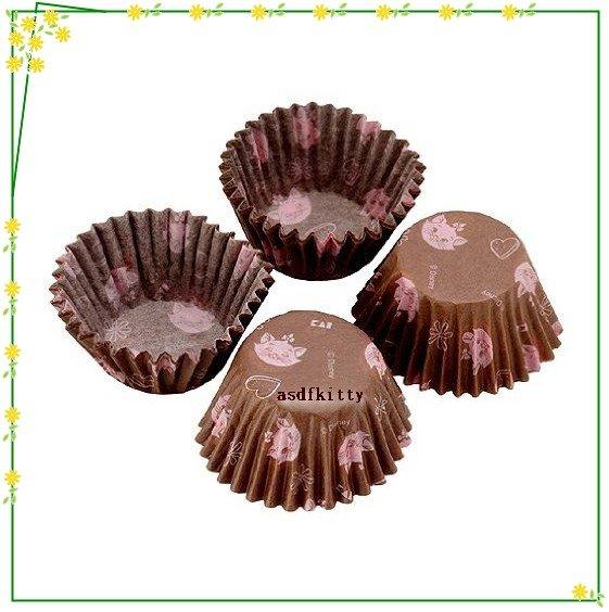 廚房【asdfkitty】貝印瑪莉貓巧克力包裝咖啡色紙杯-40入-裝糖果.手工皂.小蛋糕-日本製