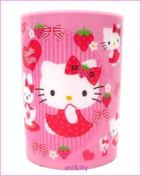 廚房【asdfkitty可愛家】KITTY粉好朋友冷水杯/漱口杯-也可當筆筒或花器-日本正版商品