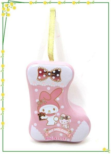 家用【asdfkitty】美樂蒂聖誕樹掛飾/幸運星星收納鐵盒-可放神祕小禮物或祝語紙條-日本製