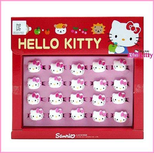 個人用品【asdfkitty】kitty大臉造型兒童戒指-分售-戒圍可活動-韓國版正版商品韓國製