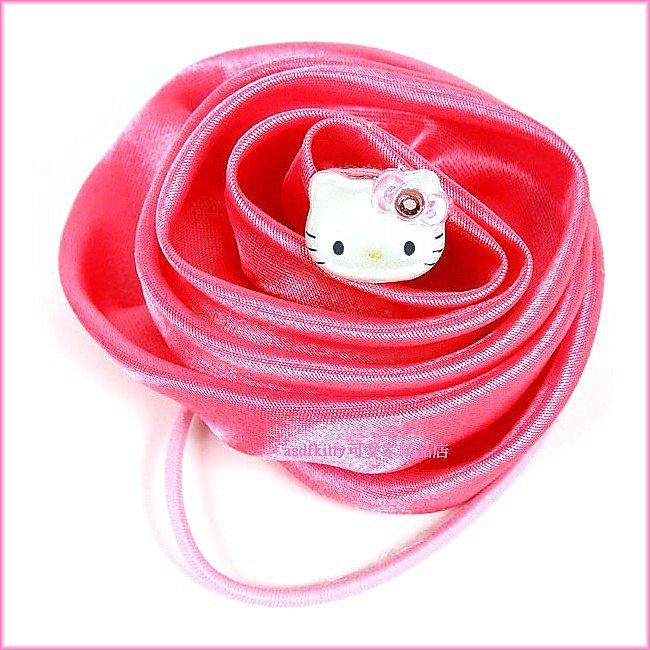 嬰童用品【asdfkitty可愛家】KITTY立體玫瑰花造型髮束-大又顯眼-日本正版商品