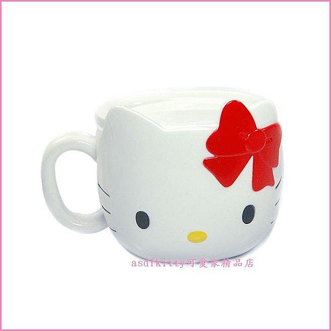 asdfkitty可愛家☆Kitty臉型有蓋玉米澱粉材質環保馬克杯/水杯/學習杯-韓國版-韓國製