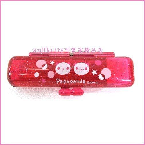 asdfkitty可愛家☆日本SAN-X熊貓果凍紅印章盒-有印泥歐-日本正版商品全新