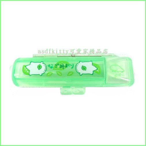 asdfkitty可愛家☆日本SAN-X果凍綠印章盒-有印泥歐-日本正版商品全新