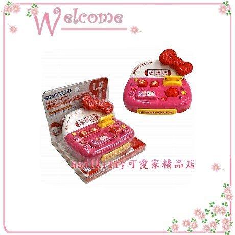 asdfkitty可愛家☆Kitty蝴蝶結收銀機玩具-日本正版商品