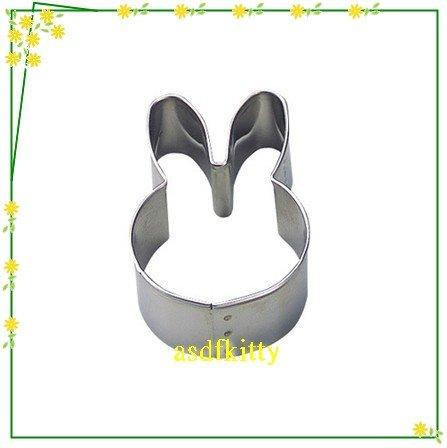 廚房【asdfkitty】貝印KAI不鏽鋼模型-小兔正面大臉-做餅乾.鳳梨酥.壓蔬菜.飯糰-日本製