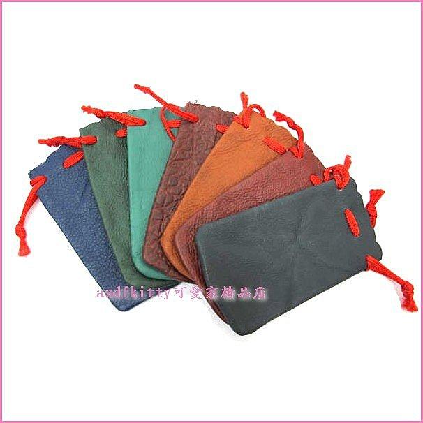asdfkitty可愛家☆牛皮5號拉繩印章袋-公司章(大小章)跟6分對章都可使用-防磨損-防髒汙-分售-不挑色