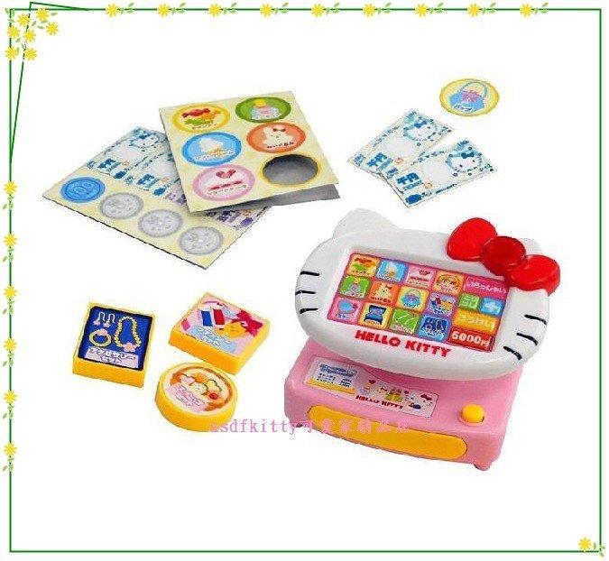 asdfkitty可愛家☆KITTY臉型日文收銀機玩具-兒童節.聖誕節禮物-日本正版商品