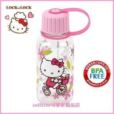 廚房【asdfkitty】kitty腳踏車直飲水壺260ML-隨身攜帶-幼兒園學習杯-不含雙酚A-韓國正版