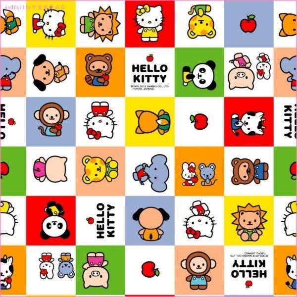 asdfkitty可愛家☆KITTY薄泡棉野餐墊-紅格版-50*60公分-日本製