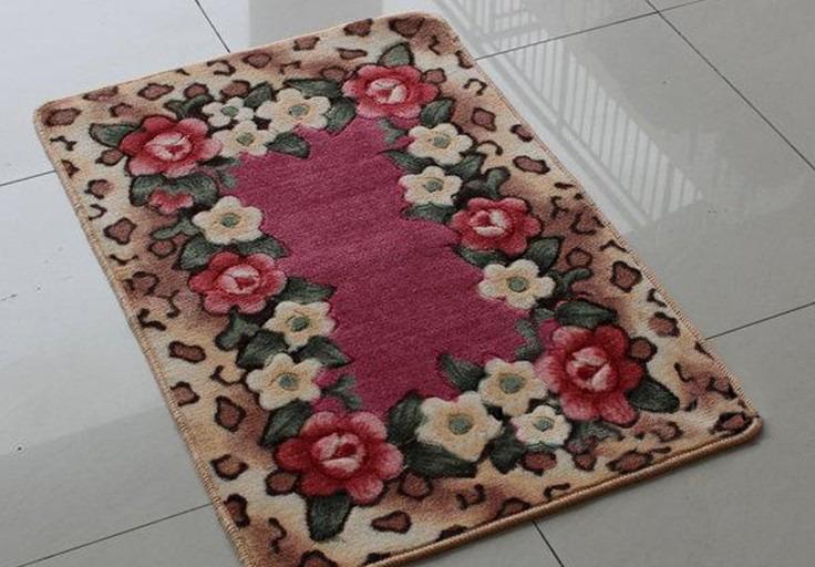 立體剪花 浪漫玫瑰花 40*60CM 防滑地毯/ 地墊/ 飄窗墊/ 廚房墊/ 浴室墊/ 門墊