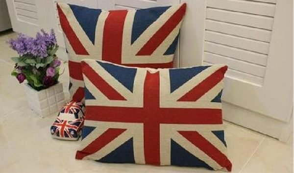寰宇歐洲風 大不列顛日不落風格 英國國旗抱枕/ 靠枕(枕套+枕芯)/ 臥枕