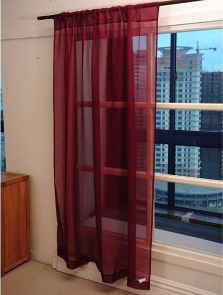 出口歐洲等級 出口歐洲152*206 CM 高級窗紗/窗簾/ 落地窗簾/ 玄關簾