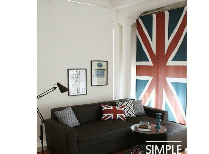寰宇歐洲風 大不列顛日不落風格 英國國旗 85*140 CM 個性特色窗簾