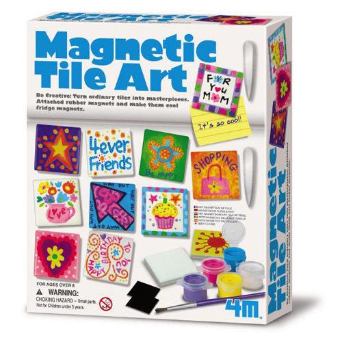 【4M 創意 DIY】Magnetic Tile Art 創意塗鴉磚