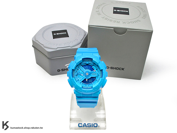 [10%OFF] kumastock 2016 最新 46mm 錶徑 貼合女性手腕曲線 CASIO G-SHOCK GMA-S110VC-2ADR BRIGHT VIVID COLOR 亮藍 S SERIES FOR LADIES 女孩專用 !