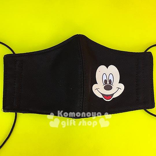 〔小禮堂〕迪士尼 米奇 兒童立體口罩《黑.大臉》感冒對策用品