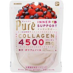 KANRO甘樂PURE綜合莓果軟糖 63g ~營養機能食品 維他命C添加~