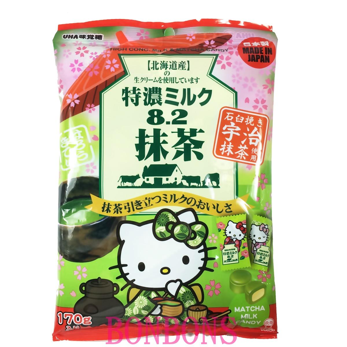 日本UHA味覺糖  KITTY特濃8.2抹茶糖   日本進口