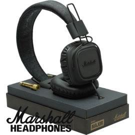 志達電子 MAJOR PitchBlack瀝青黑 Marshall 英國設計 耳罩式耳機 HTC Motorola iPhone samsung Sony