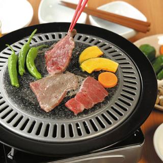 【味覺探訪】 韓國天然石雙層燒肉烤盤 33cm (瓦斯爐用)