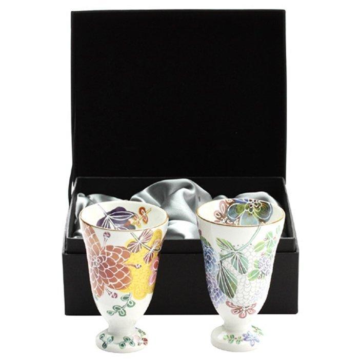 【日本和藍】シノワ啤酒杯組 (美濃燒) / 日式 無毒 瓷器 生日 結婚 送禮 工藝 收藏品 24期免運費