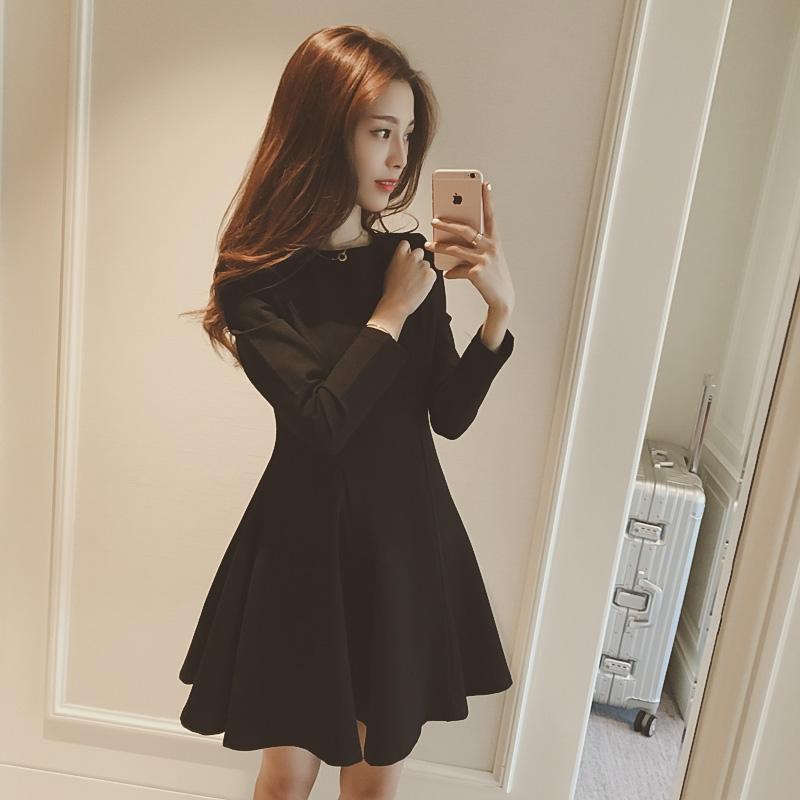 PS Mall 秋冬大尺碼韓版修身連身裙 洋裝【T4339】
