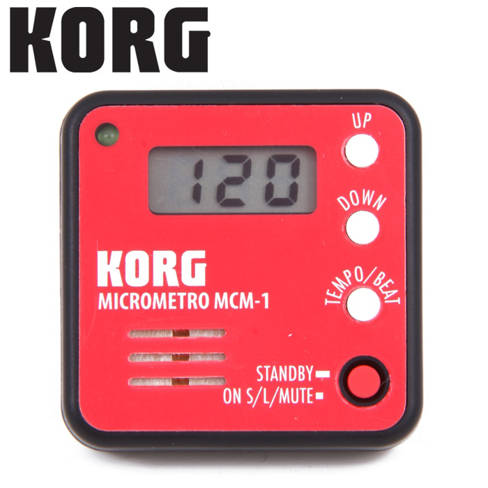 【非凡樂器】KORG microMETRO MCM-1 口袋型夾式節拍器【紅色】