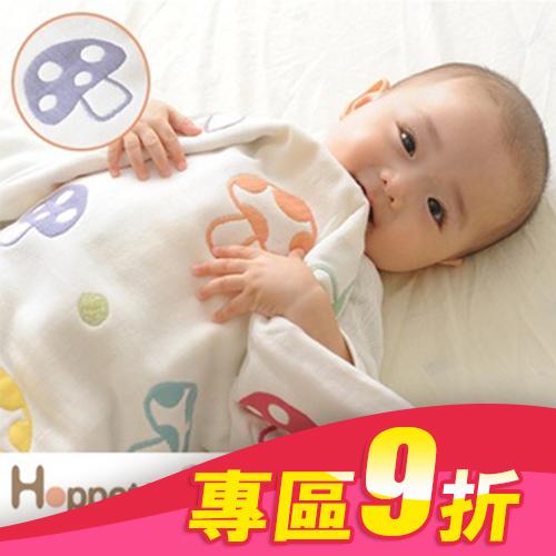 **雙子俏媽咪親子館** [日本製]  Hoppetta 六層紗蘑菇被-- S