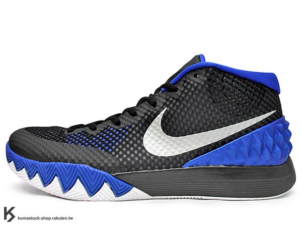[30%OFF][31cm] 2015 NBA 新人王 Kyrie Irving 首款個人簽名代言籃球鞋 NIKE KYRIE 1 BROTHERHOOD DUKE 黑藍 黑藍白 杜克 兄弟 限量販售 美國版 (705277-400) !