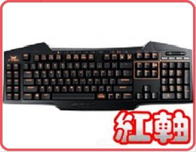 ASUS Strix Tactic Pro-R 全Cherry MX 鍵軸機械式電競鍵盤/紅軸中文