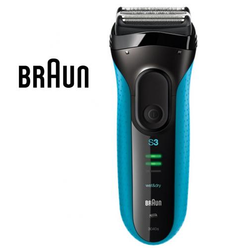 德國百靈 Braun 3040s 新三鋒系列電鬍刀 (藍)