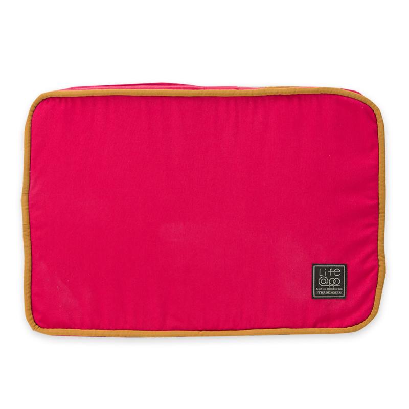 《Lifeapp》睡墊替換布套XS_W45xD30xH5cm (紅藍) 不含睡墊