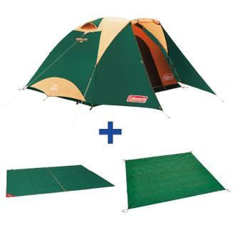 【露營趣】中和 Coleman TOUGH圓頂帳套組/3025綠 CM-27279 鋁合金帳篷 露營帳篷 家庭帳篷 適4~6人