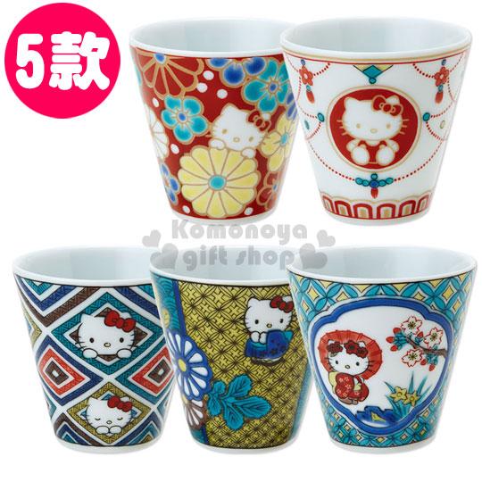 〔小禮堂〕Hello Kitty 日製陶瓷杯《小.5款選1》精緻九谷燒.葉朗彩彩