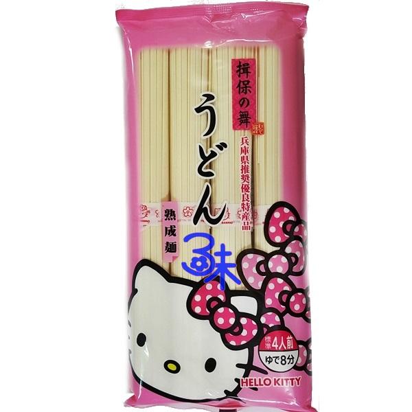 (日本) [Kanesu製麵]揖保之舞熟成烏龍麵(粉紅)1包360公克 特價 133 元 【4972328436020 】(Hello Kitty烏龍麵)