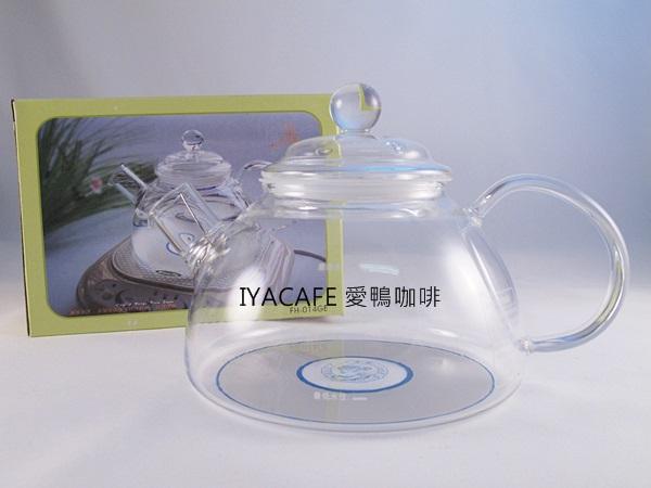 《愛鴨咖啡》一屋窑 FH-014GE 電磁爐專用 玻璃花茶壺 900ml