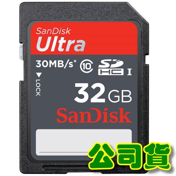 SanDisk SDHC Ultra 32GB 30MB/S(200X) 記憶卡(公司貨)