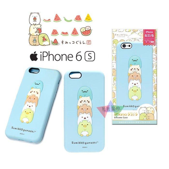 叉叉日貨 角落生物恐龍貓咪炸豬排白熊企鵝疊疊樂iPhone 6 6s 4.7吋矽膠手機保護軟殼【iP62000】預購