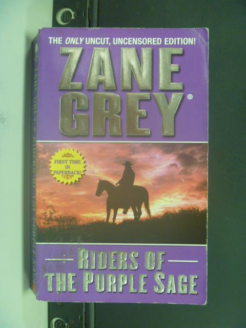 【書寶二手書T2/原文小說_OIJ】Riders of the Purple Sage_Zane Grey