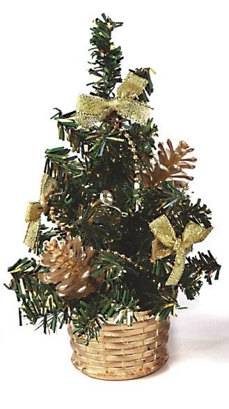 X射線【X080612】20cm成品小樹(金),聖誕樹/聖誕佈置/聖誕禮物