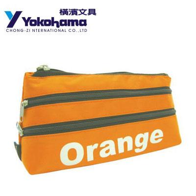 YOKOHAMA 日本橫濱 曼斯特部落三開拉鍵筆袋YHC-6 / 個