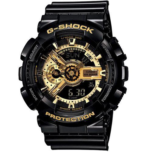 CASIO G-SHOCK GA-110GB-1A黑金限量雙顯流行腕錶/51mm