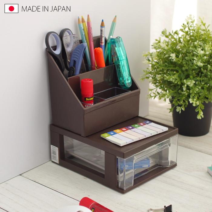 桌上收納盒 抽屜分隔盒 抽屜式收納盒 日本製 桌面收納組合C【5210】快樂生活網